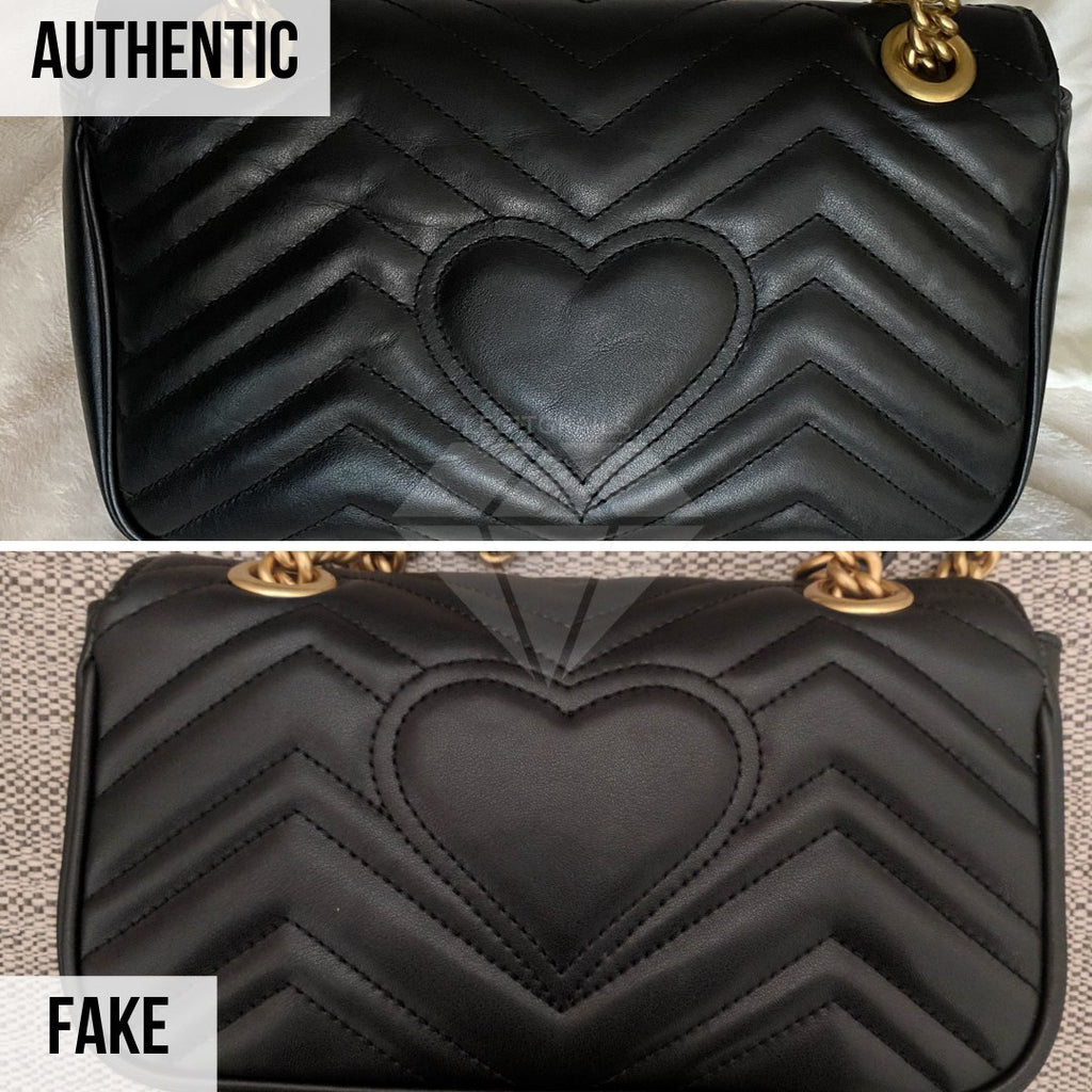 Gucci Marmont Bag Fake vs Real Guide: The Heart Method