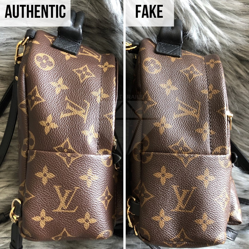 How To Tell If Louis Vuitton Palm Springs Mini Is Authentic: The Sides Method