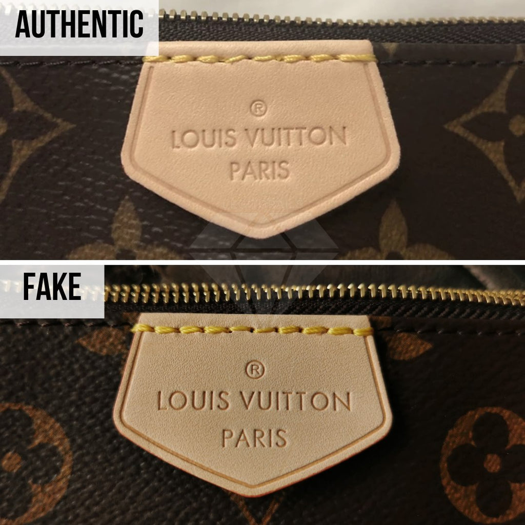 Louis Vuitton Multi Pochette Accessories Real VS Fake Guide: The LV Tag Method