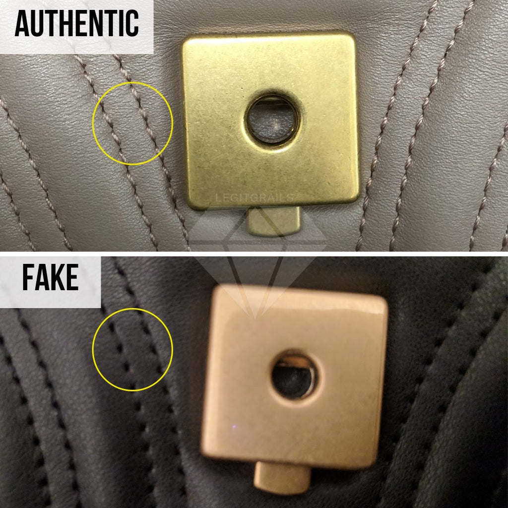 Gucci Marmont Bag Fake vs Real Guide: The Lock Method