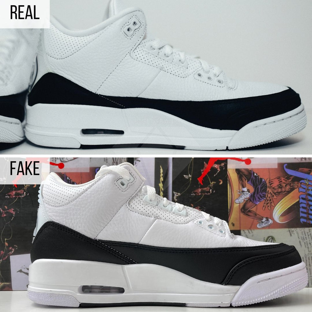 Jordan 3 Fragment Fake VS Real Guide: The General Look Method (The Right Side)