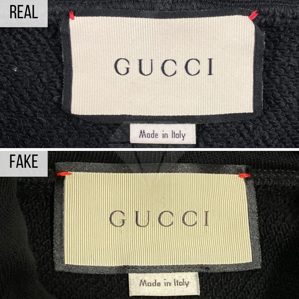 How To Spot a Fake Gucci Hoodie: The Gucci Tag Method