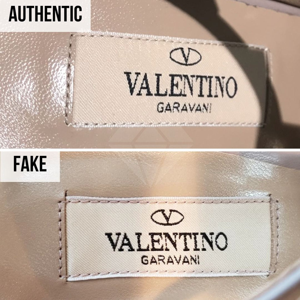 Valentino Rockstud Pumps Fake VS Real Guide: The Interior Valentino Tag Method