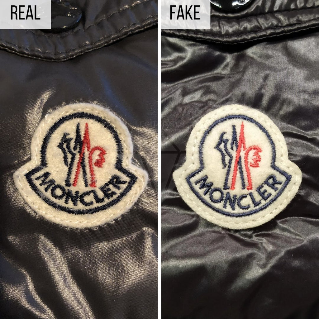 Moncler Maya Jacket Legit Check Guide: The Logo Method (Lower-Quality Replica)