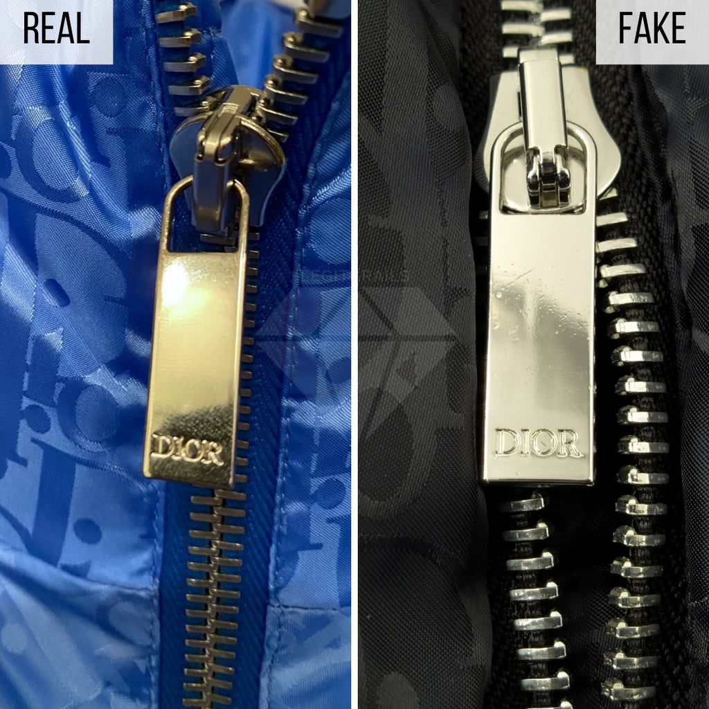 Dior Puffer Jacket Fake VS Real Guide: The Zipper Method