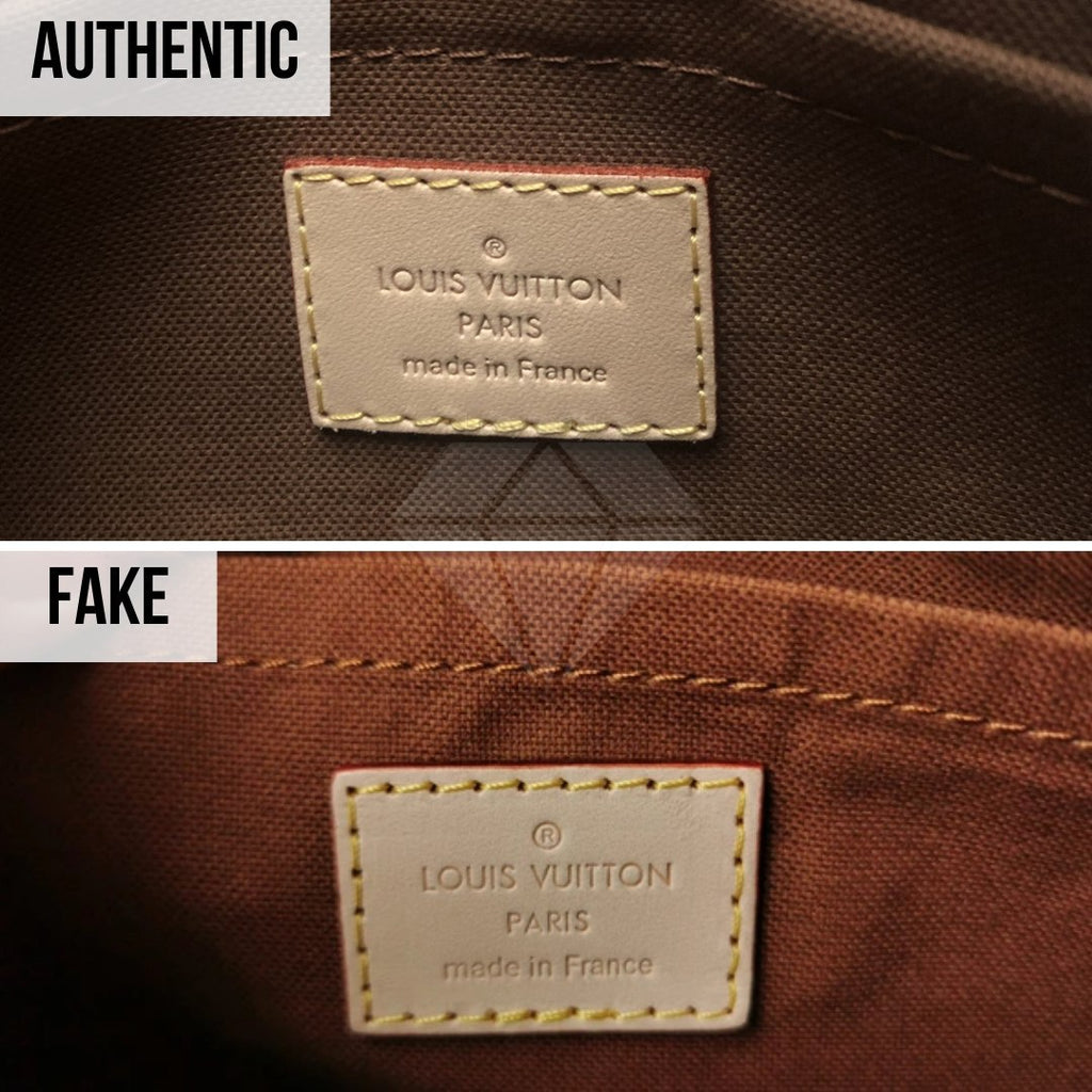 Louis Vuitton Multi Pochette Accessories Real VS Fake Guide: The Interior Tag Method