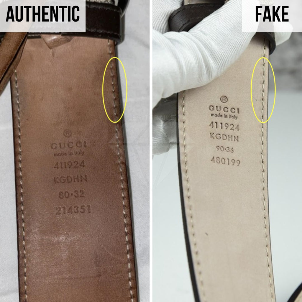 Gucci Supreme Belt Authentication Guide: The Stamp Method