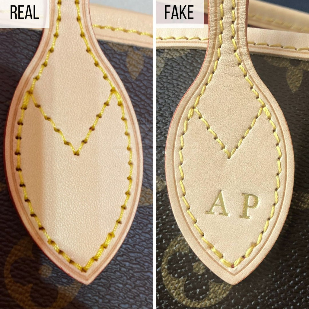 How To Spot a Fake Louis Vuitton Neverfull MM: The Leather Tag Method