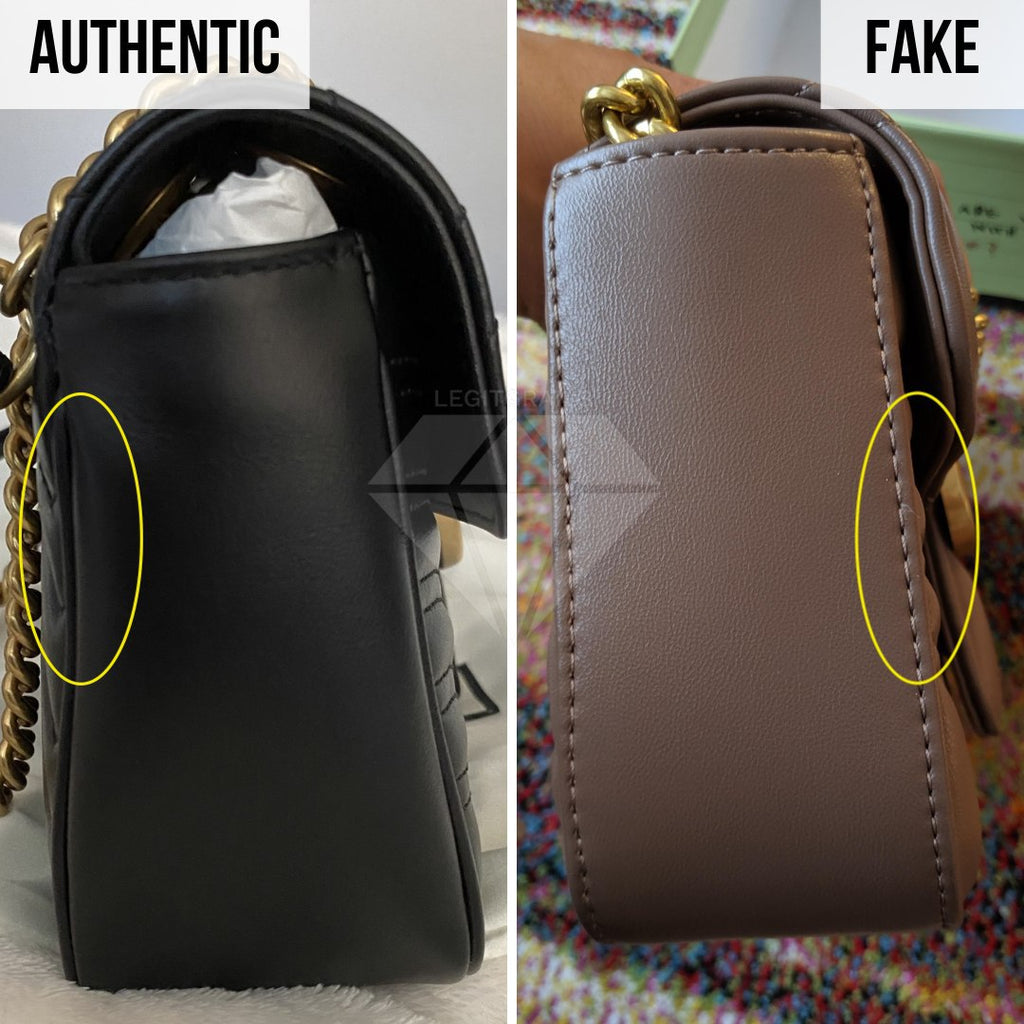 Gucci Marmont Bag Fake vs Real Guide: The Side Method