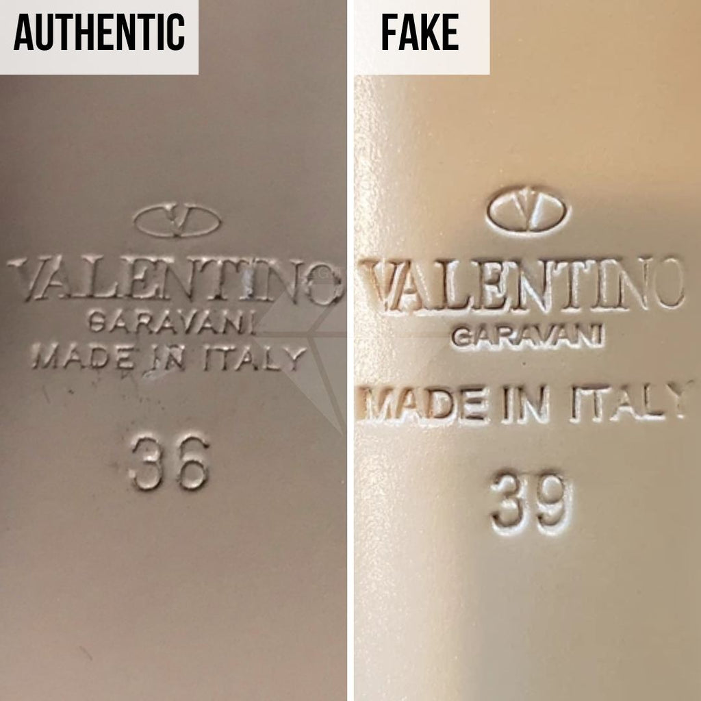 Valentino Rockstud Pumps Fake VS Real Guide: The Sizing Method (Lower-Quality Replica)