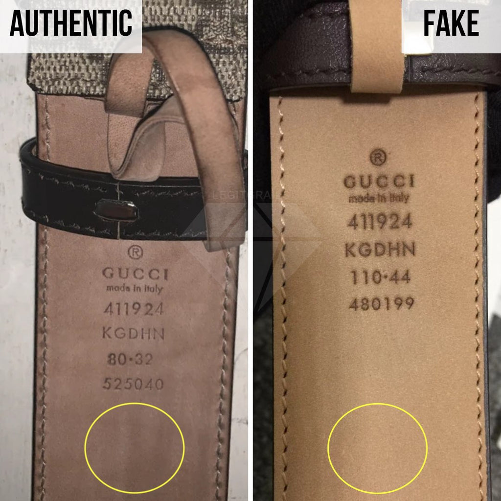 Gucci Supreme Belt Authentication Guide: The Stamp Color Method