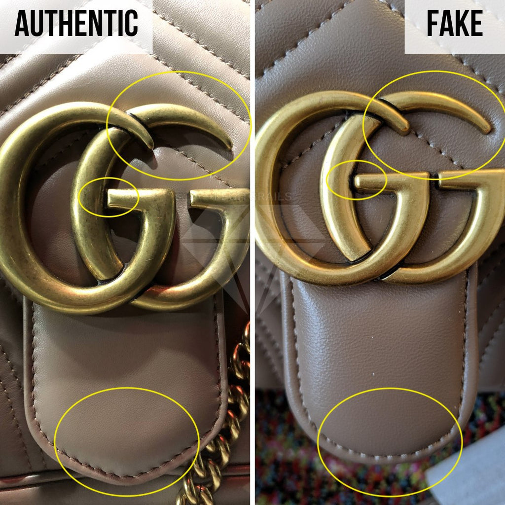 Gucci Marmont Bag Fake vs Real Guide: The Logo Method (Higher Quality Replica)