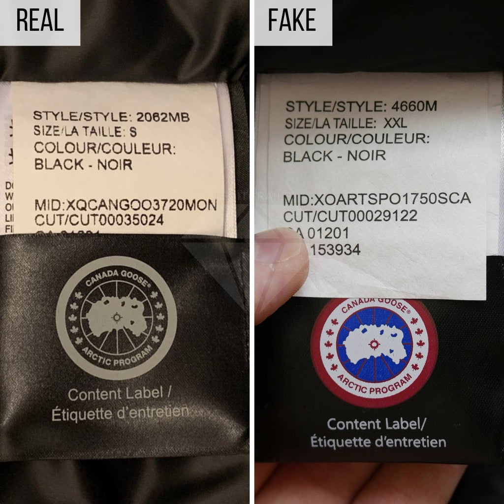 How To Spot a Fake Canada Goose Jacket: The Content Label Method