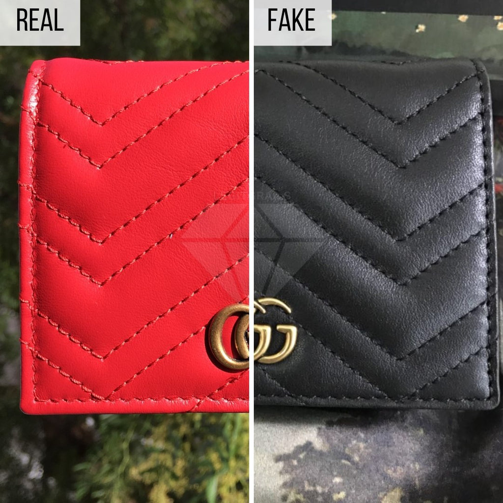 How To Spot a Fake Gucci Wallet: The General Look Method (Gucci Quilted Marmont Wallet)