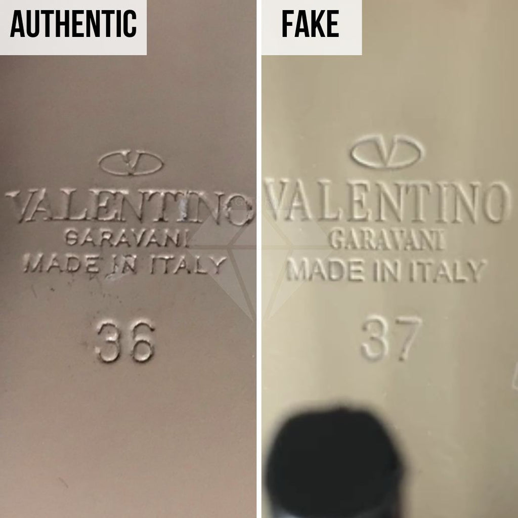 Valentino Rockstud Pumps Fake VS Real Guide: The Sizing Method (Higher-Quality Replica)