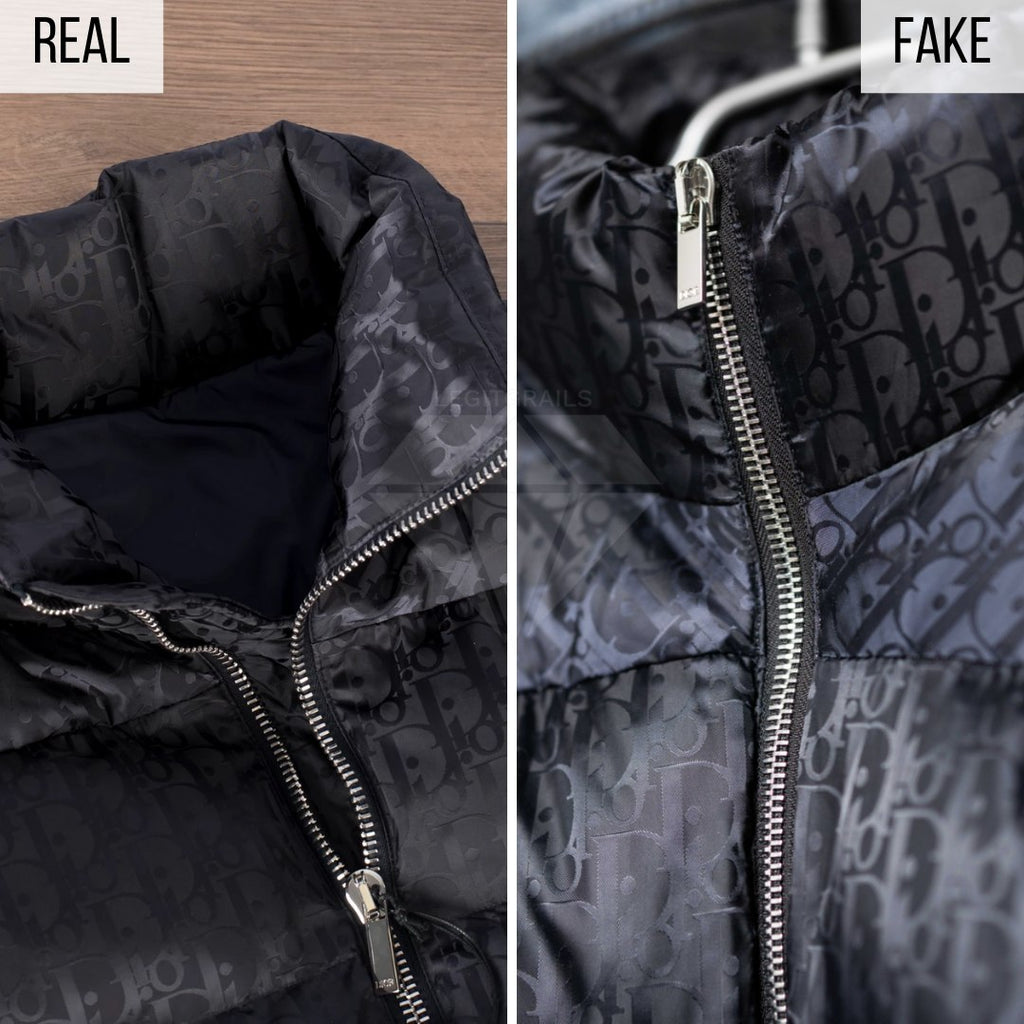 Dior Puffer Jacket Fake VS Real Guide: The Collar Method
