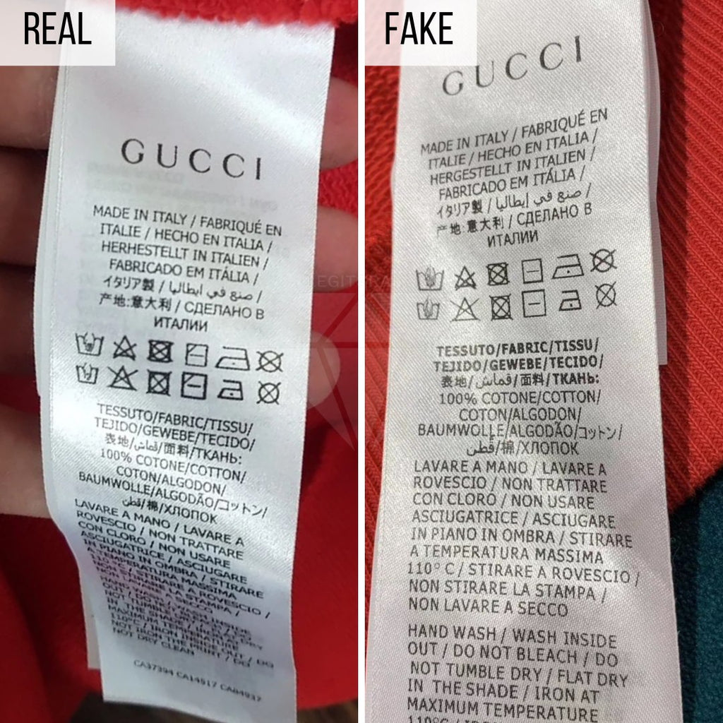 How To Spot a Fake Gucci Hoodie: The Washing Label Method