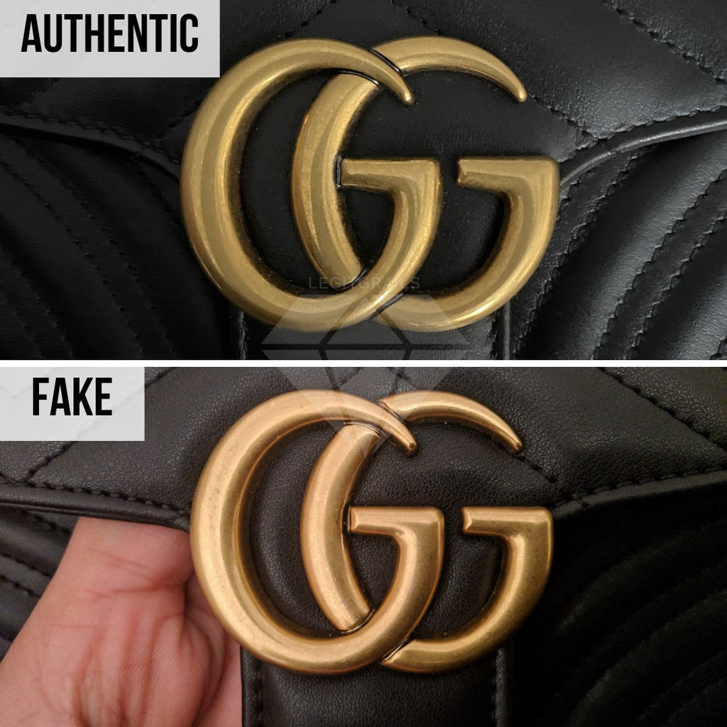 Gucci Marmont Bag Fake vs Real Guide: The Logo Method (Lower Quality Replica)
