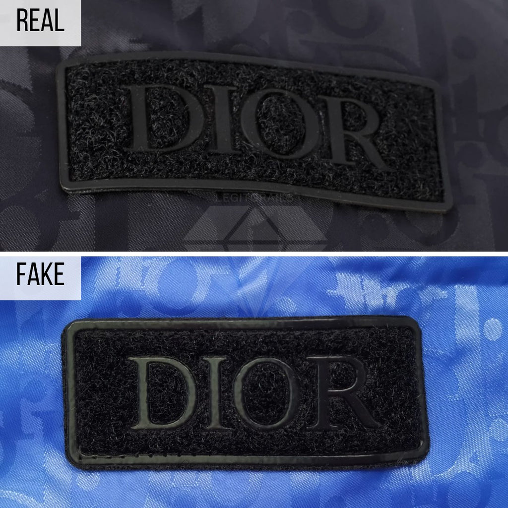 Dior Puffer Jacket Fake VS Real Guide: The Logo Patch Method