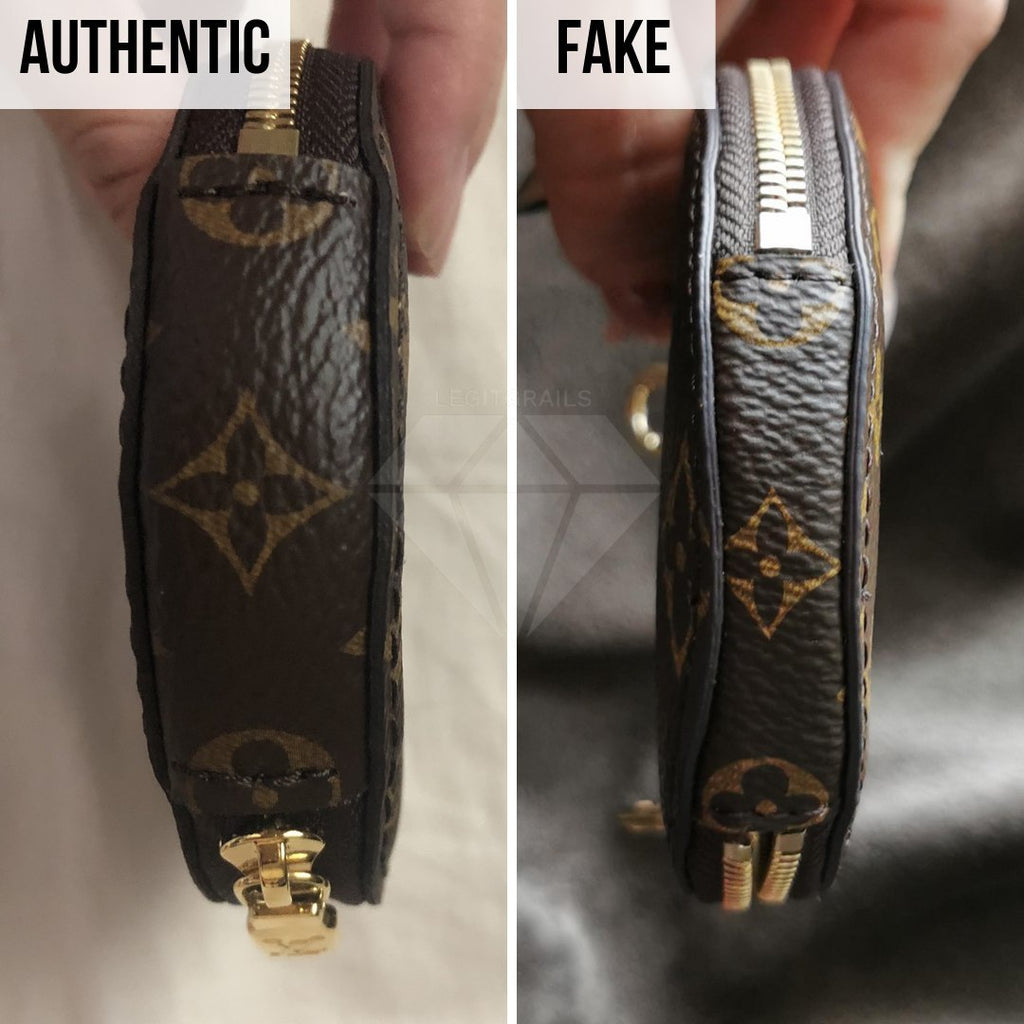 Louis Vuitton Multi Pochette Accessories Real VS Fake Guide: The Side Method