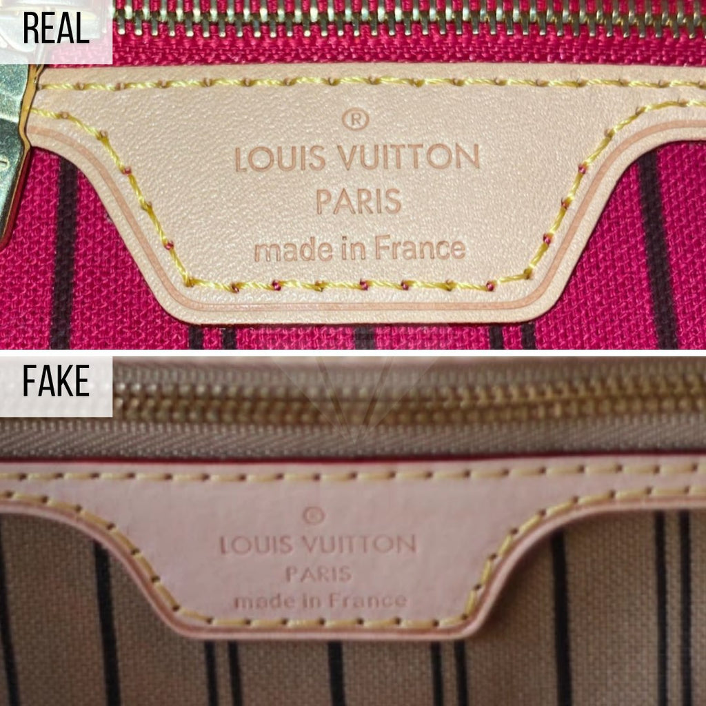 How To Spot a Fake Louis Vuitton Neverfull MM: The Label Method