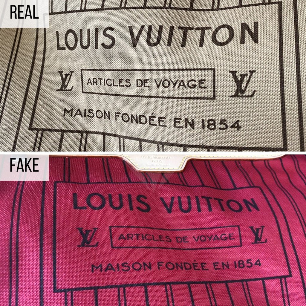 How To Spot a Fake Louis Vuitton Neverfull MM: The Fabric Method
