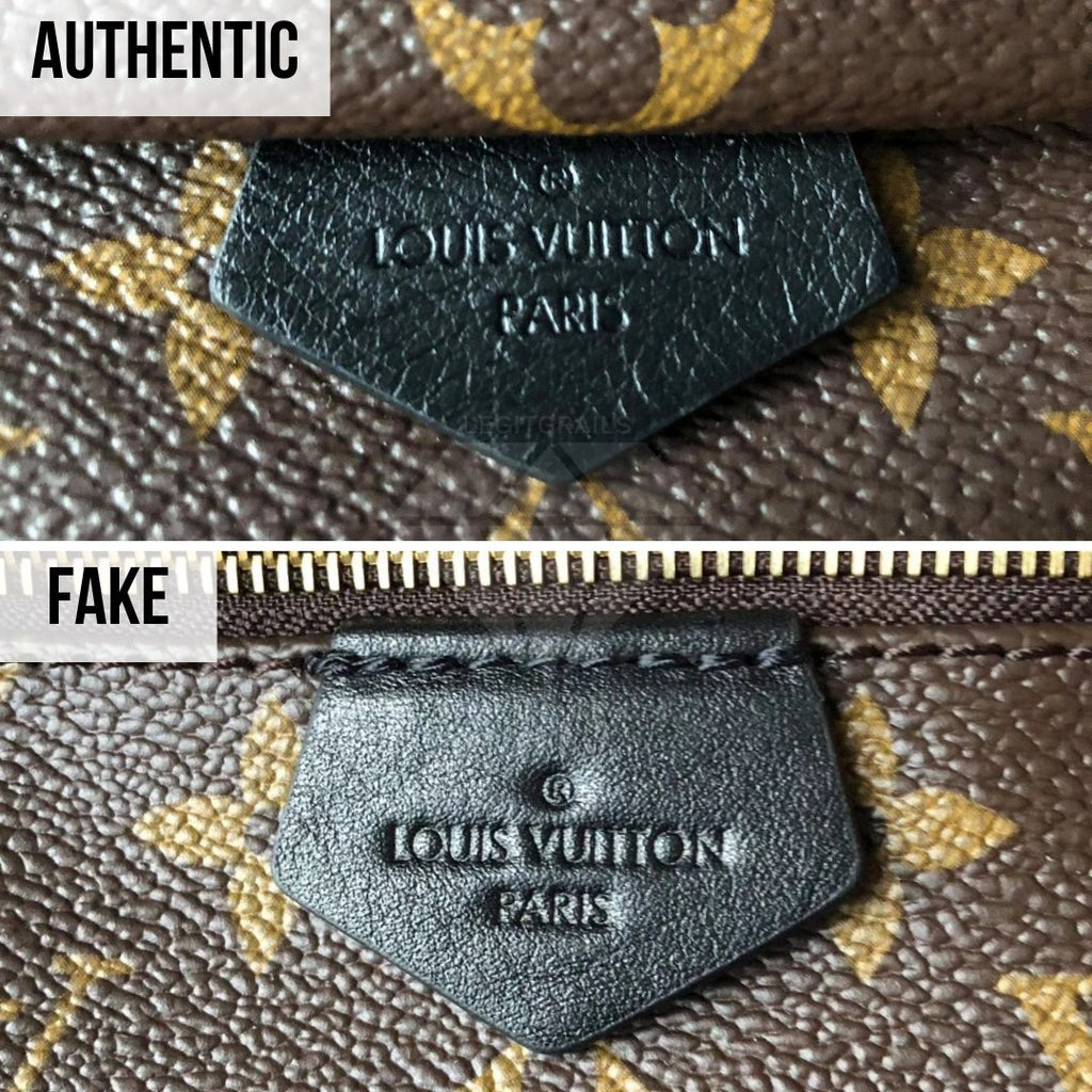 How To Tell If Louis Vuitton Palm Springs Mini Is Authentic: The Signature Tag Method