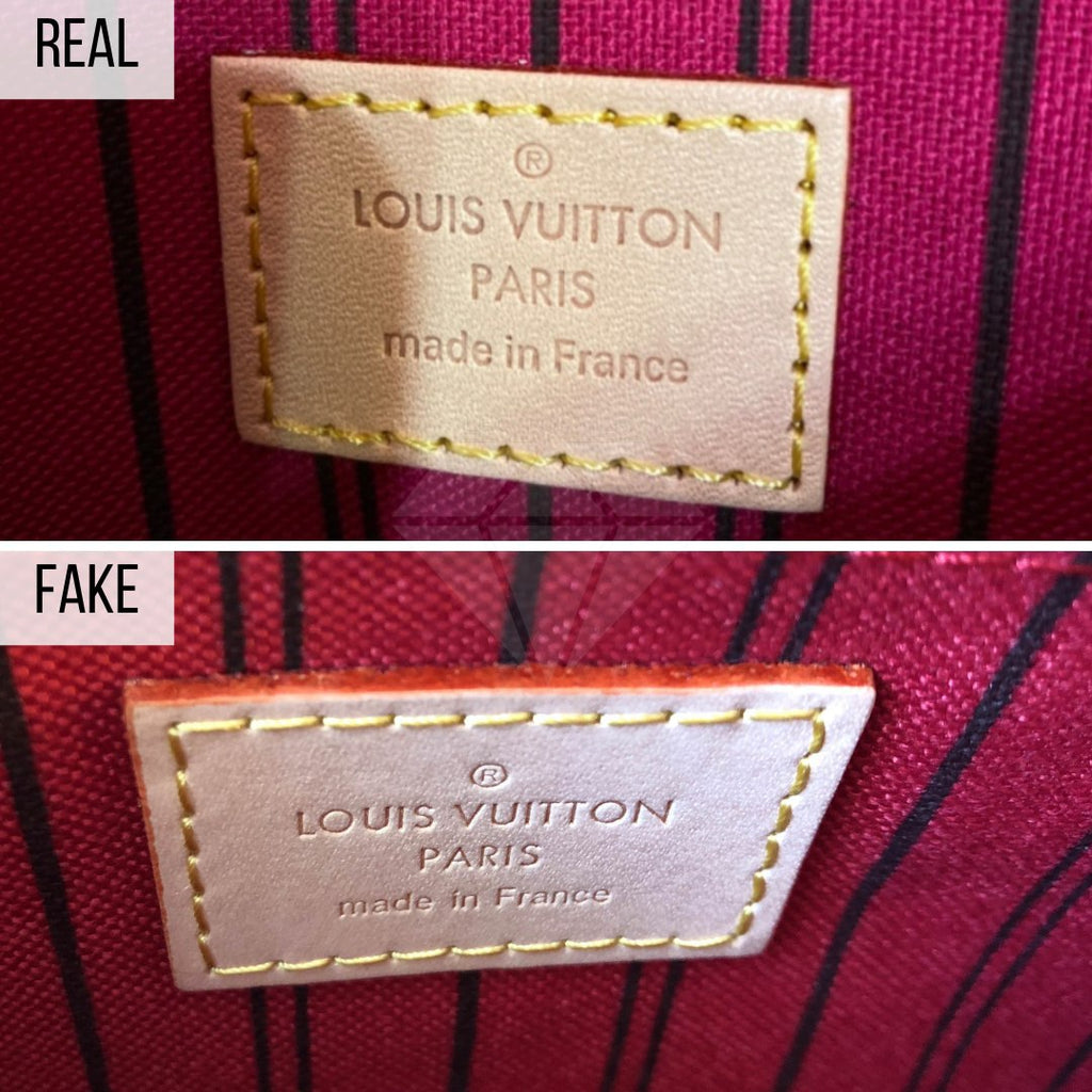 How To Spot a Fake Louis Vuitton Neverfull MM: The Pochette Label Method