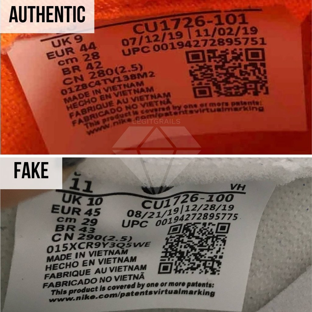 How To Authenticate Nike Dunk: The Sizing Tag Method