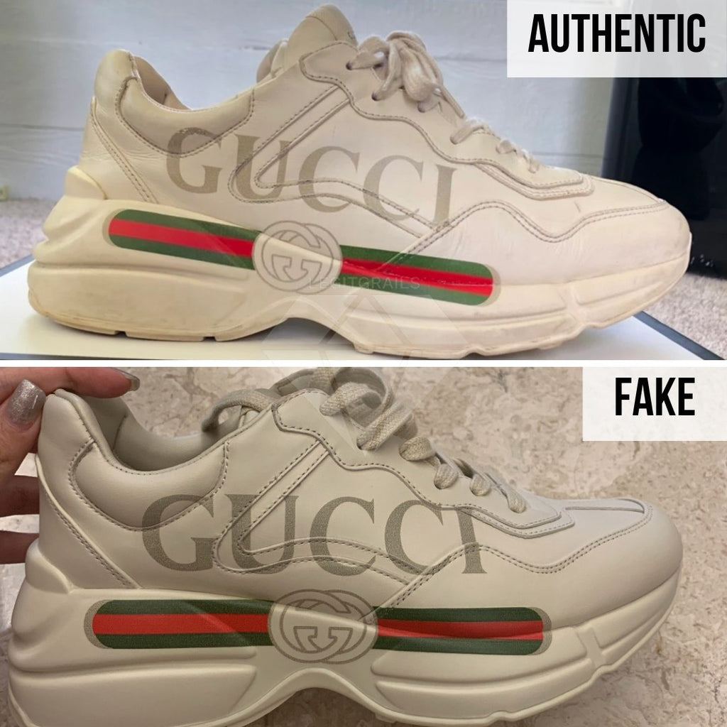 Gucci Rhyton Gucci Print Sneakers Legit Check Guide: The Overall Shape Method
