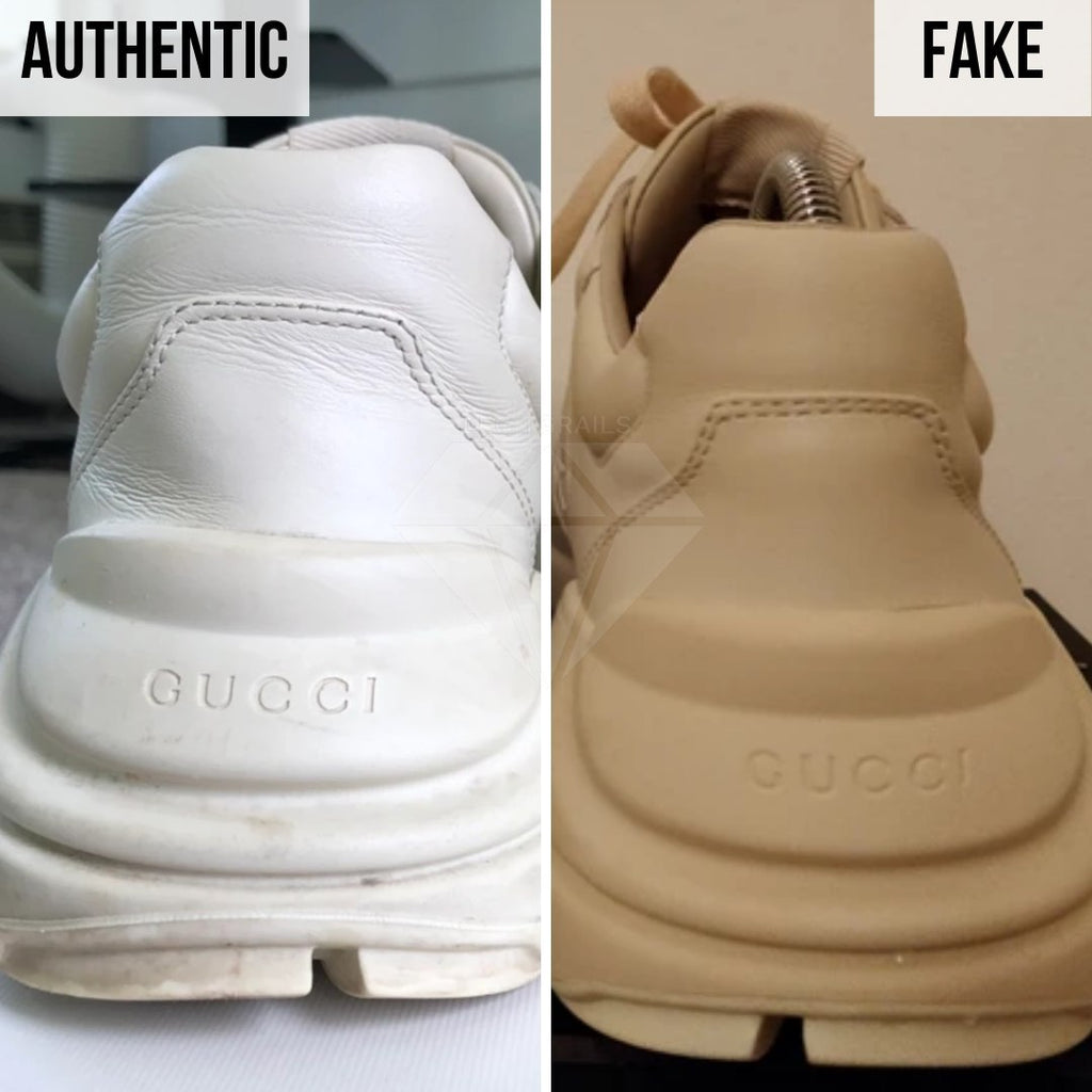 Gucci Rhyton Gucci Print Sneakers Legit Check Guides: The Heel Method