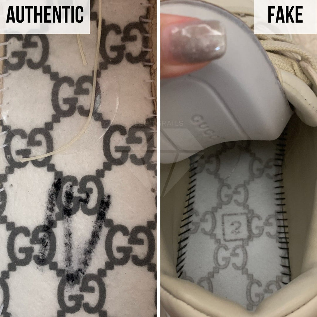 Gucci Rhyton Gucci Print Sneakers Legit Check Guides: The Insole Print Method