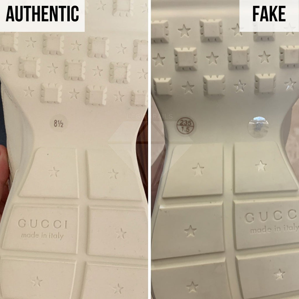 Gucci Rhyton Gucci Print Sneakers Legit Check Guides: The Outsole Method