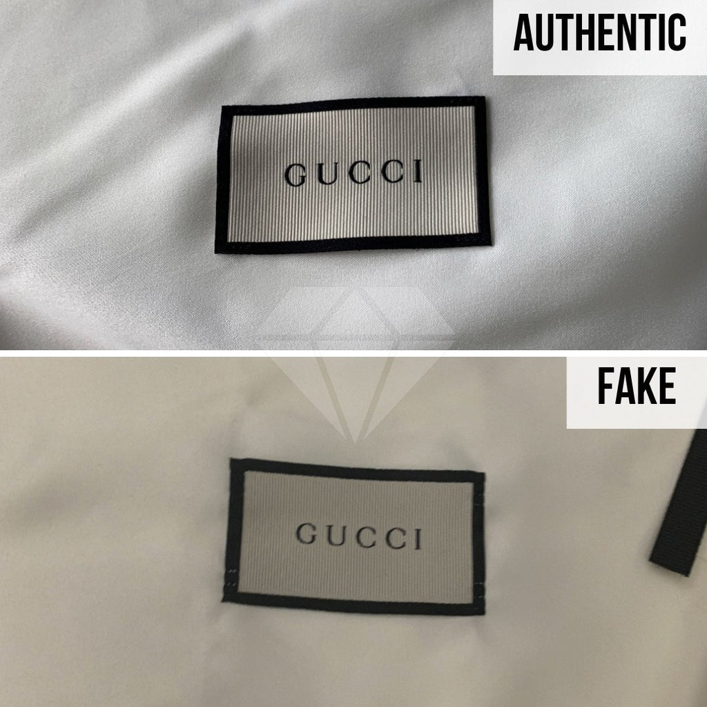 Gucci Rhyton Gucci Print Sneakers Legit Check Guides: The Dust Bag Label Method