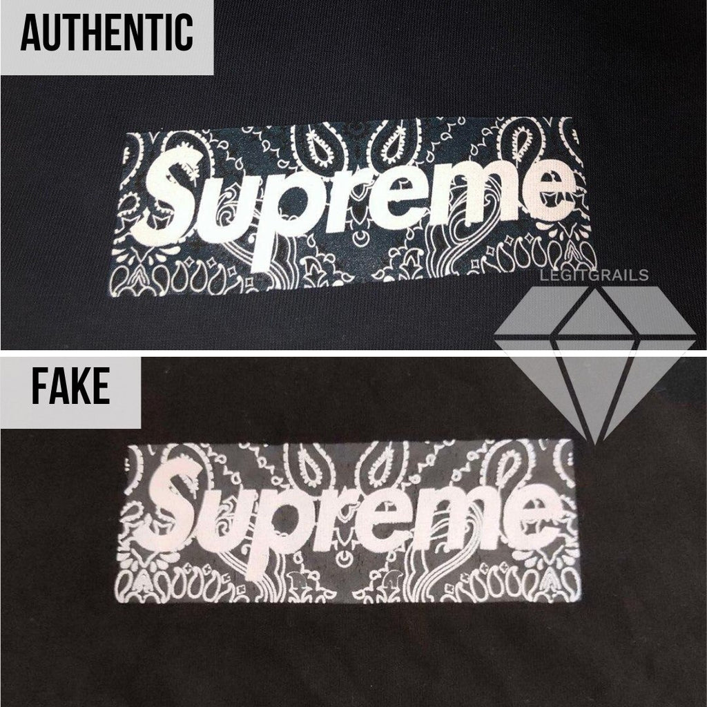 How to legit check a Supreme T-shirt: Box Logo Real vs Fake