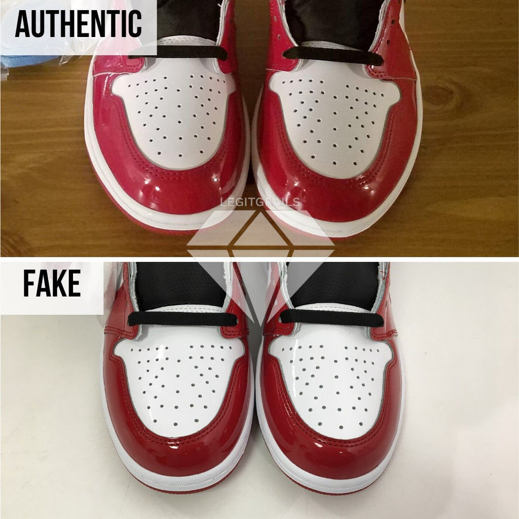 "How to spot fake Nike Air Jordan 1 ""Fearless"": Sole Method"