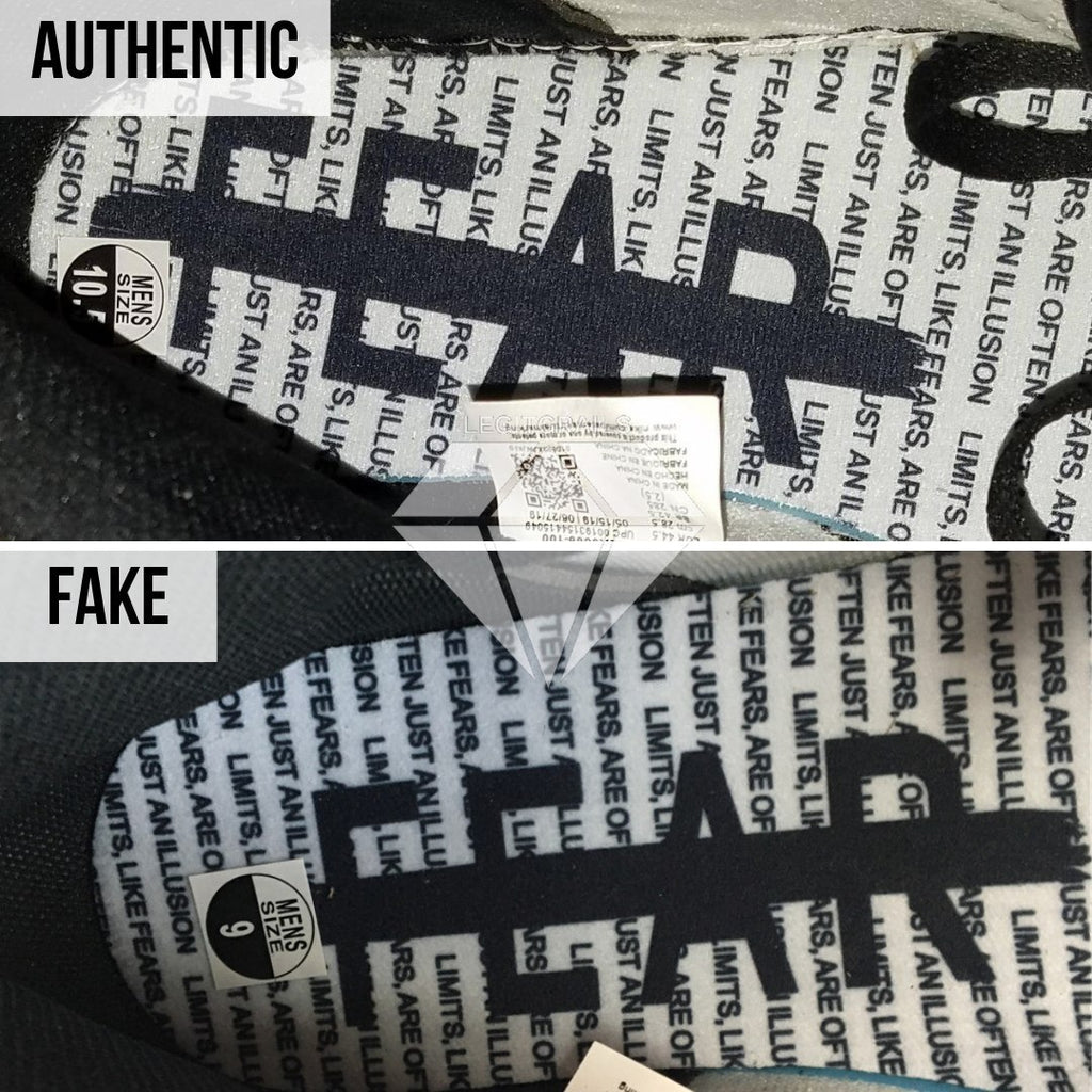 "How to spot fake Nike Air Jordan 1 ""Fearless"": Insole Method"