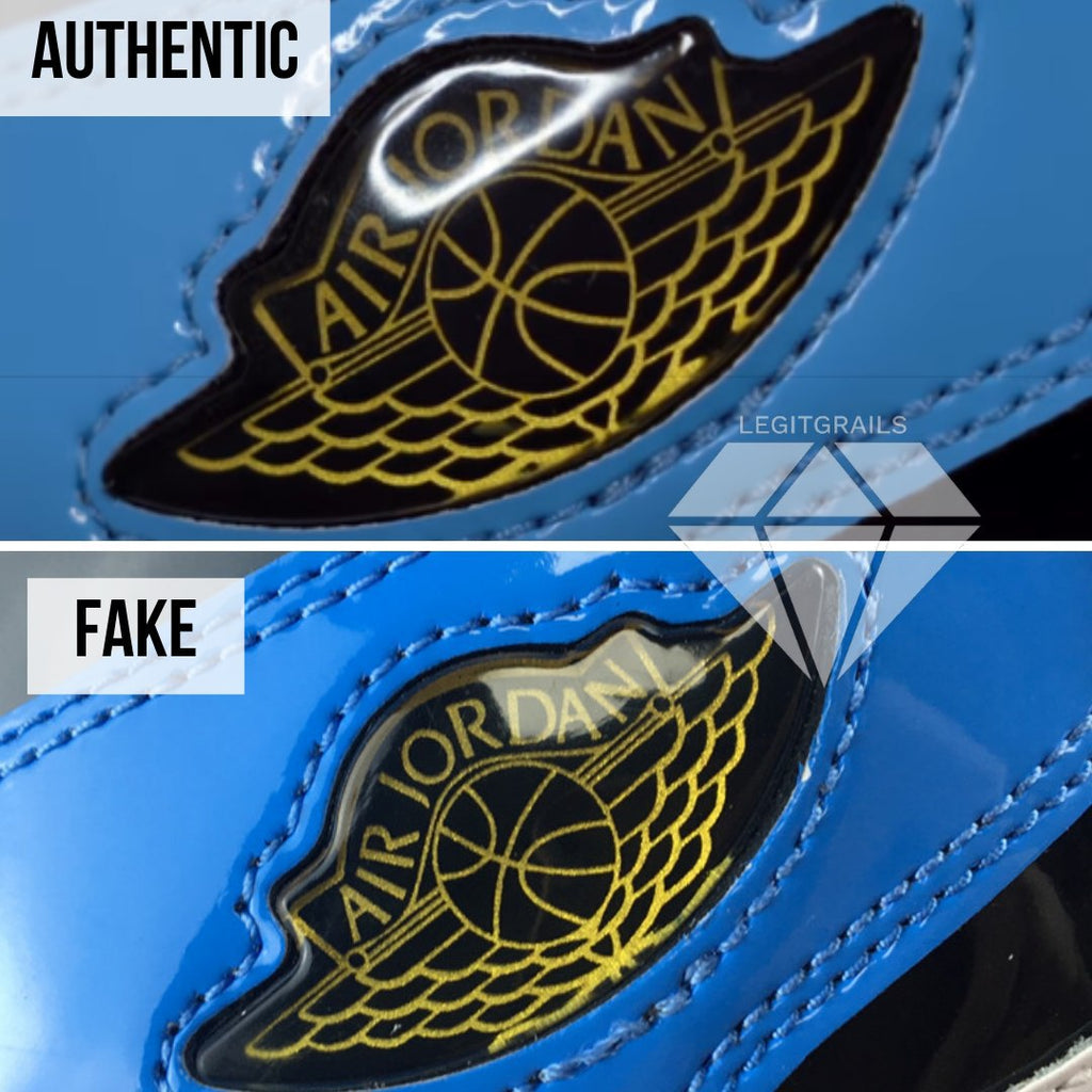 "How to spot fake Nike Air Jordan 1 ""Fearless"": Jordan Logo Method"