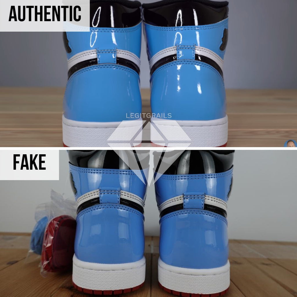 "How to spot fake Nike Air Jordan 1 ""Fearless"": Hourglass Shape Method"