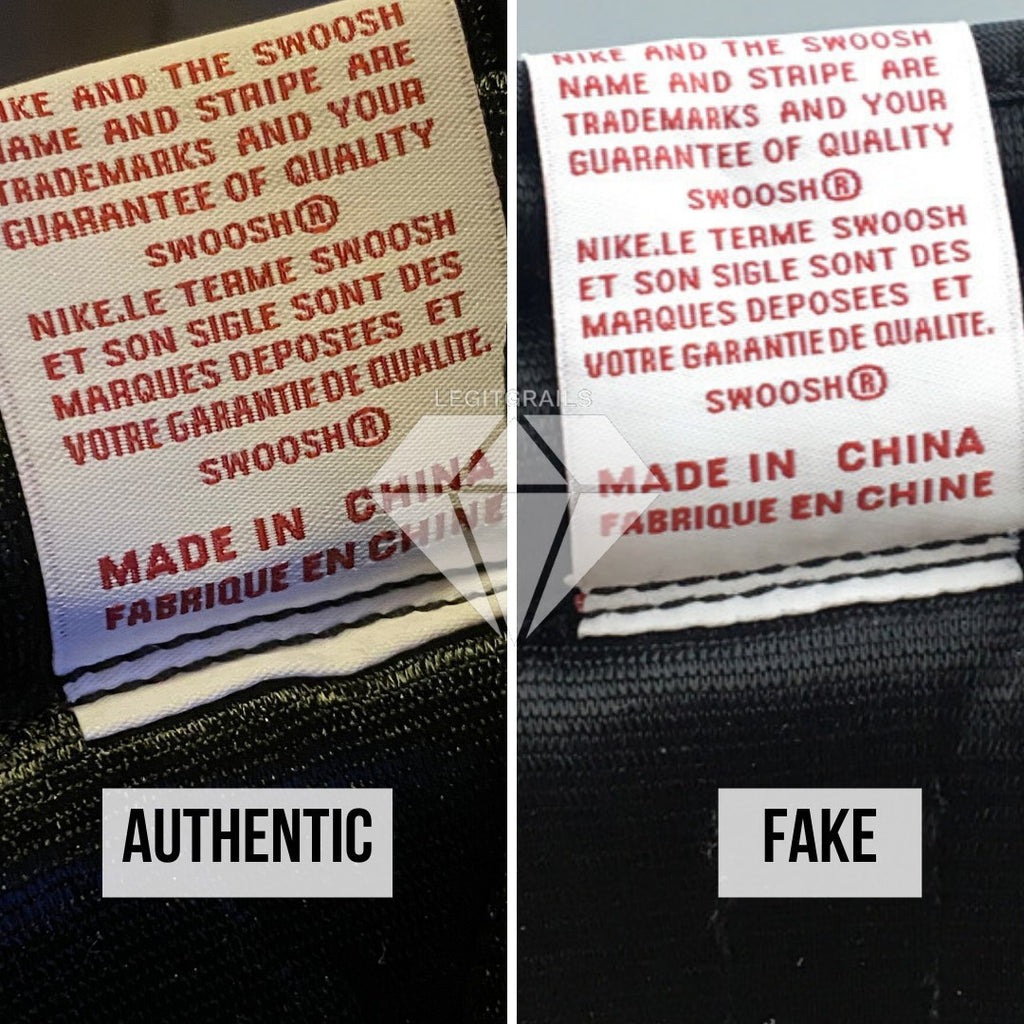 "How to spot fake Nike Air Jordan 1 ""Fearless"": Tongue Label Method"