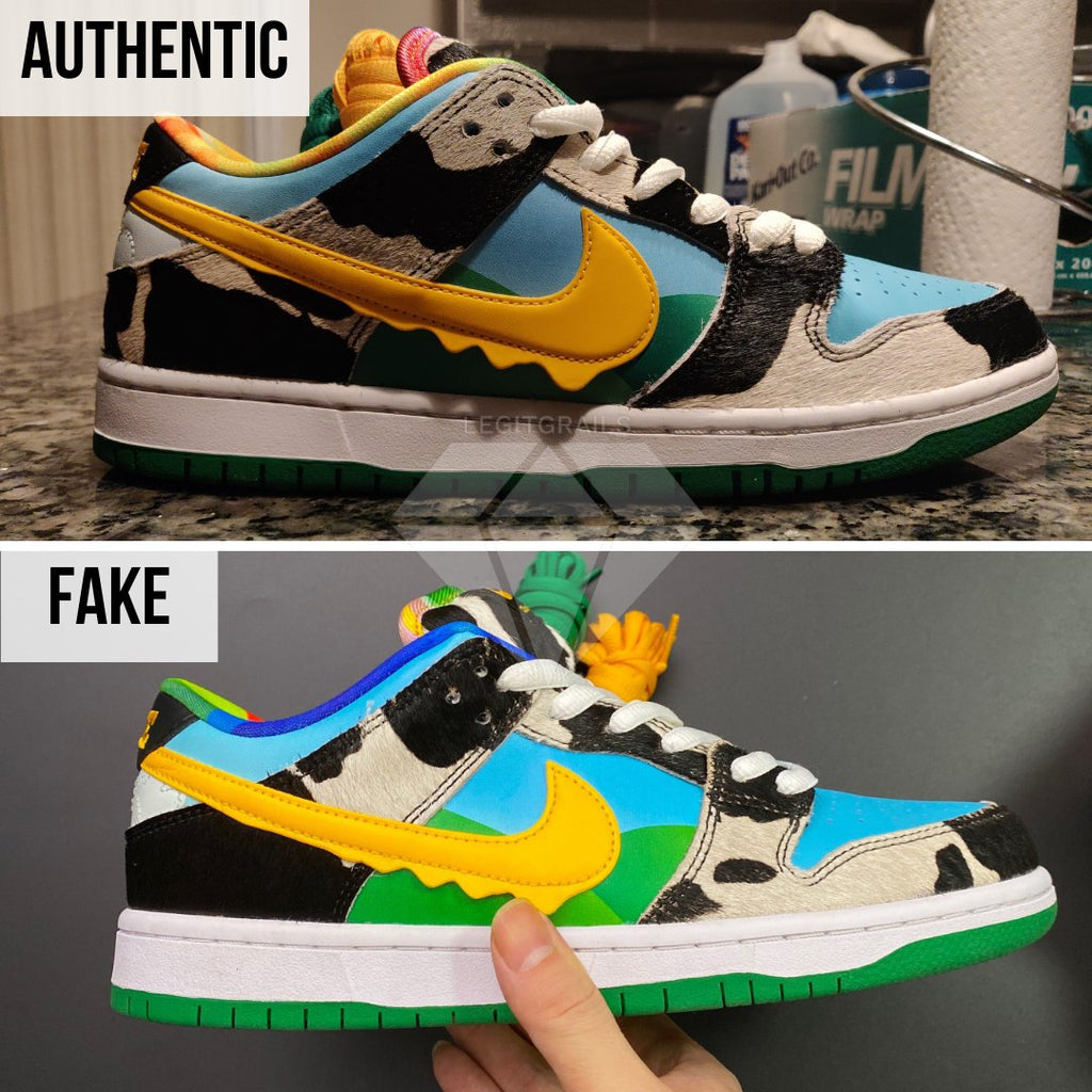 How to legit check Nike SB Dunk Low Ben & Jerry's Chunky Dunky: The Outer Swoosh Method