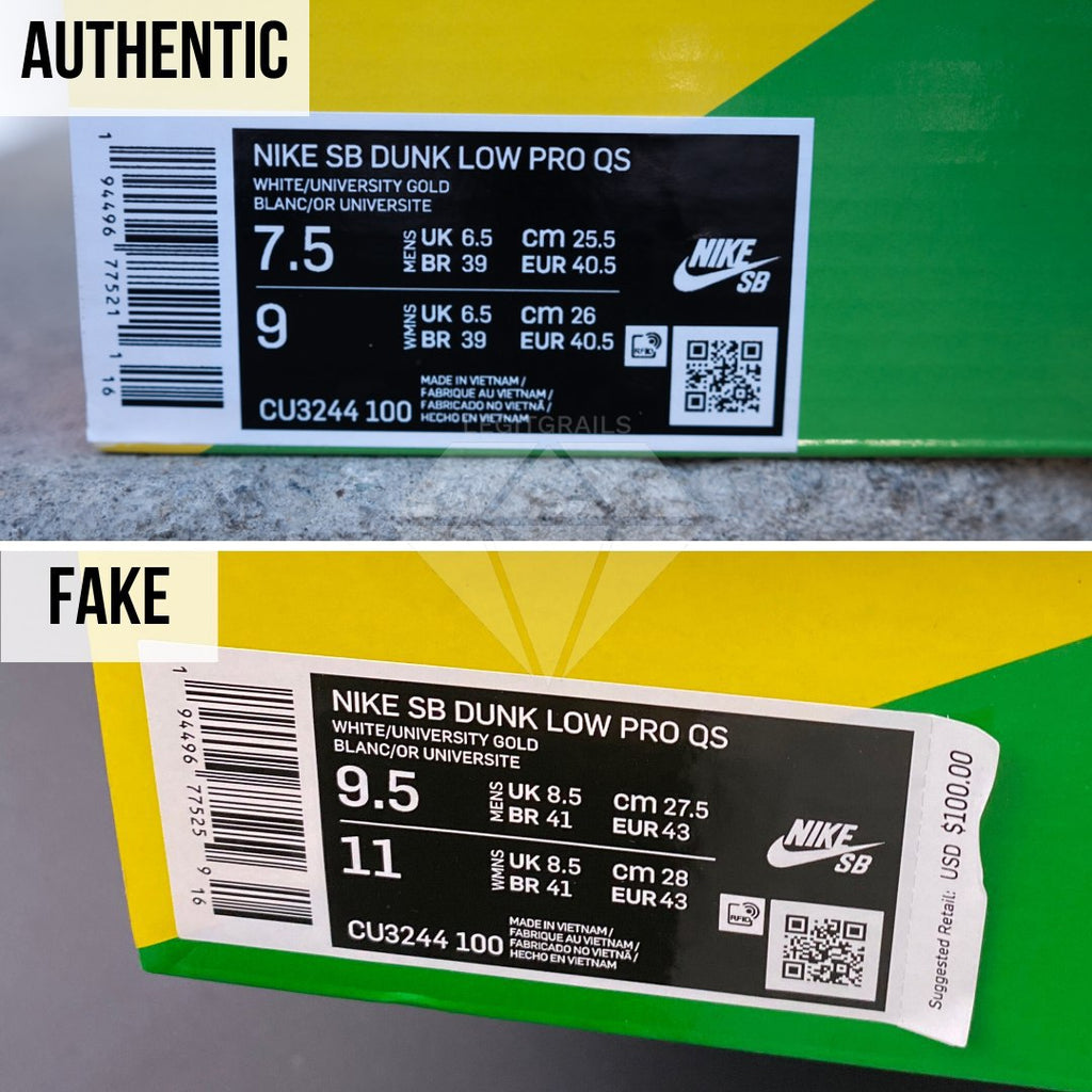 How to legit check Nike SB Dunk Low Ben & Jerry's Chunky Dunky: The Box Label Method