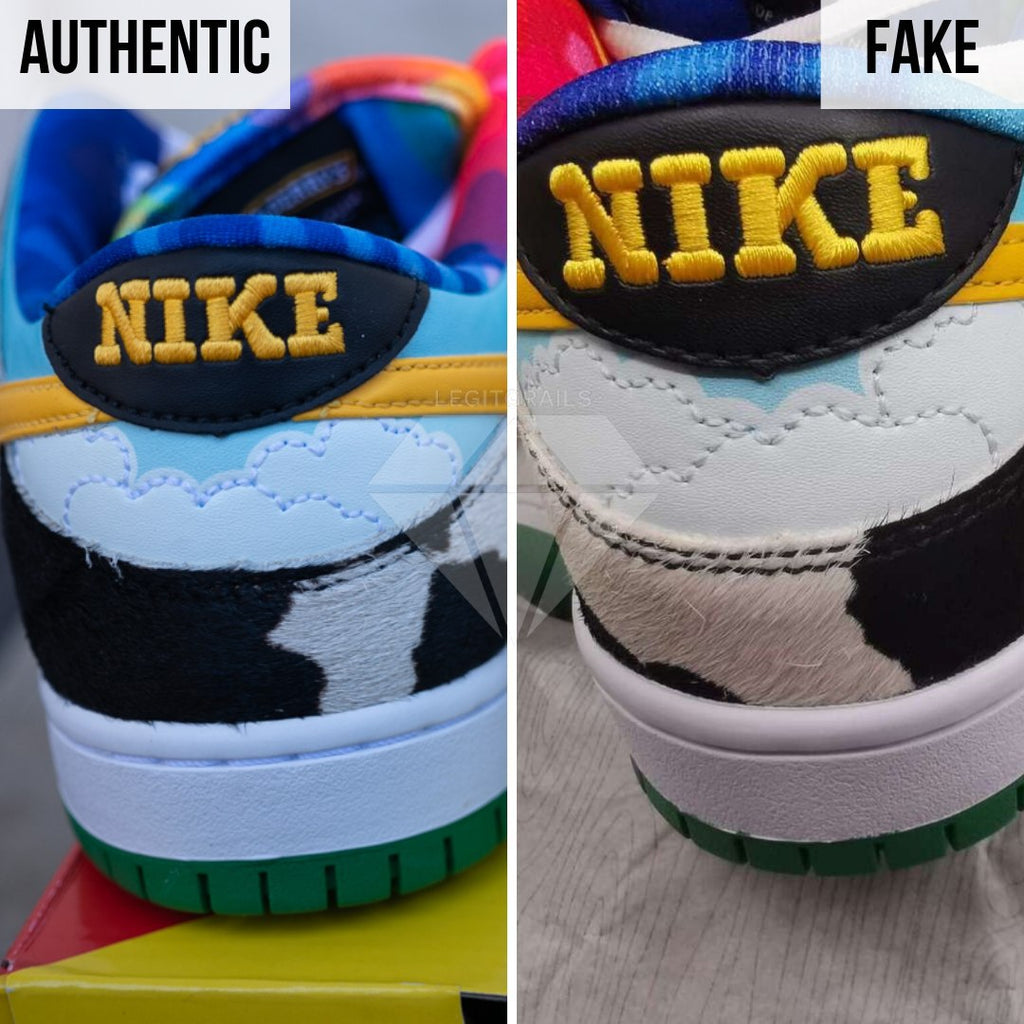 How to legit check Nike SB Dunk Low Ben & Jerry's Chunky Dunky: The Heel Method