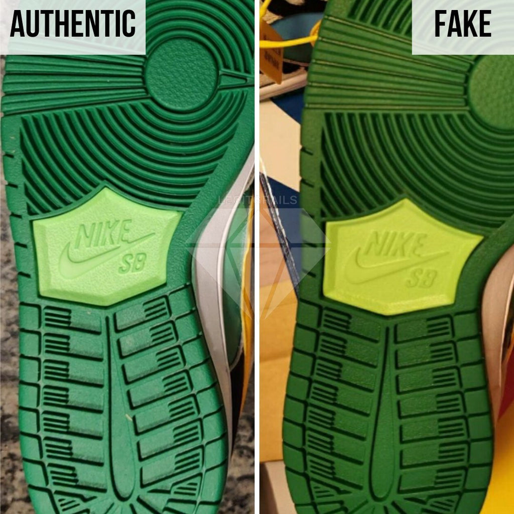 how to legit check Nike SB Dunk Low Ben & Jerry's Chunky Dunky: The Bottom Side of the Shoe Method