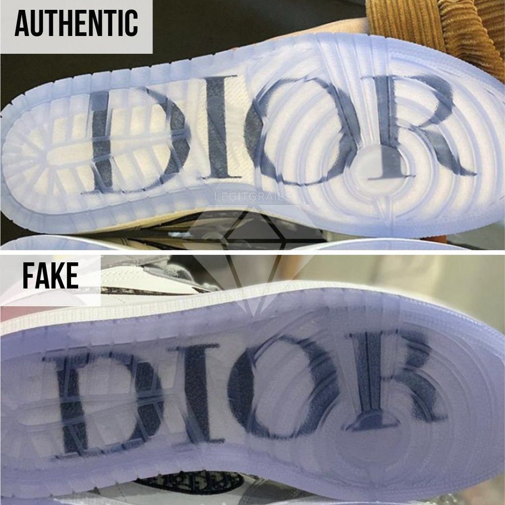 How to spot fake Dior Jordan 1 High: The Left Outsole Method