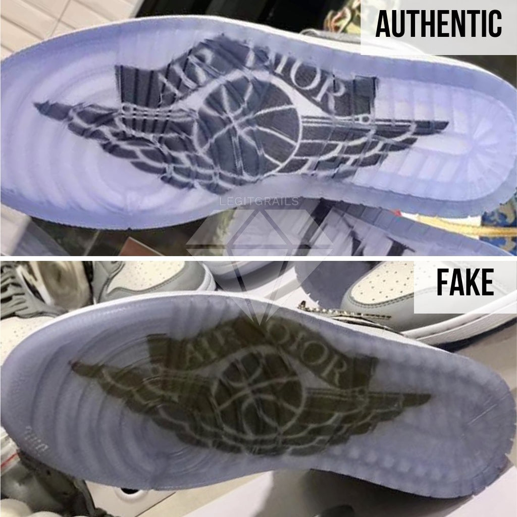 How to spot fake Dior Jordan 1 High: The Right Outsole Method
