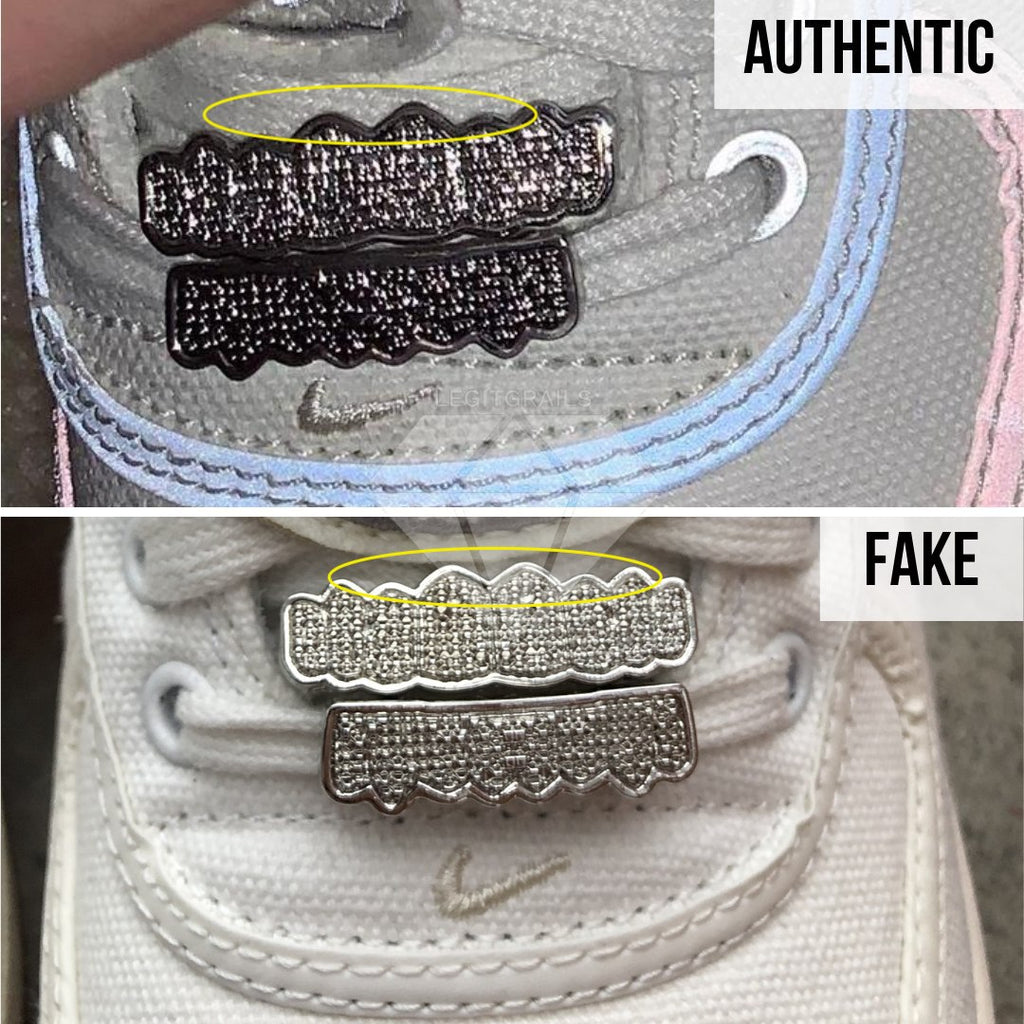 How to legit check Air Force 1 Travis Scott Sail: The Grillz Method