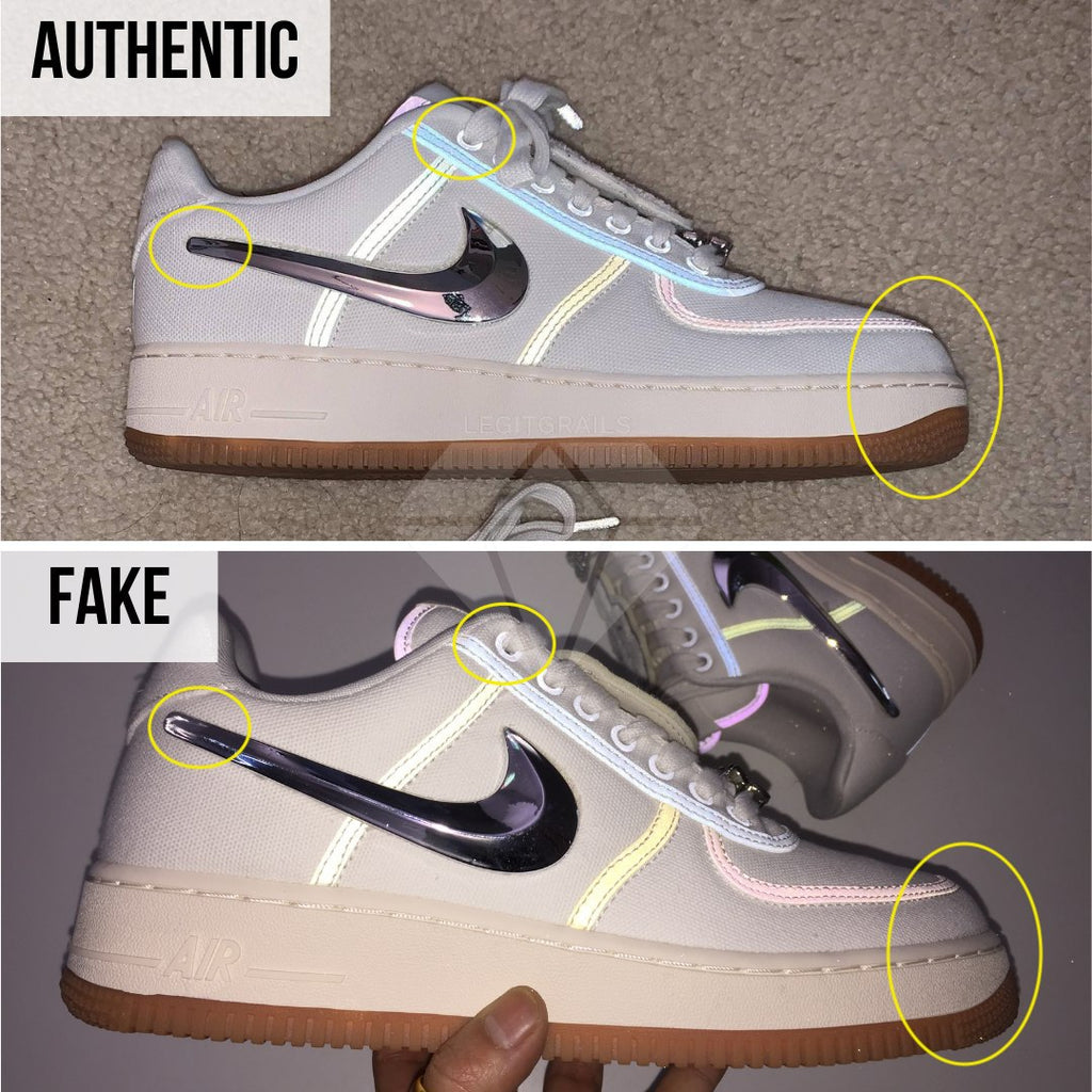 How to legit check Air Force 1 Travis Scott Sail: The Overall Shape Method