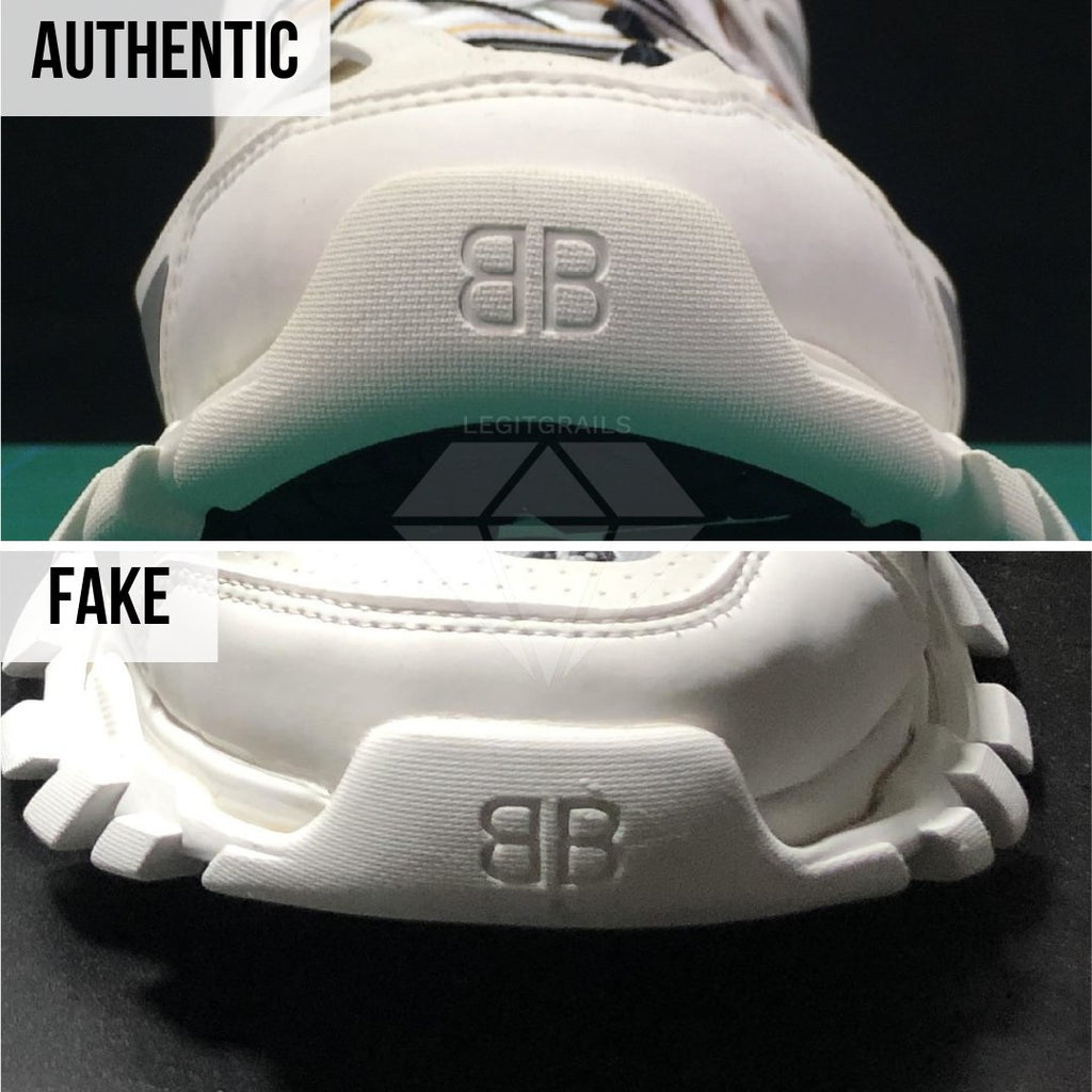 How To Spot Fake Balenciaga Track Sneakers: Iconic Balenciaga Logo