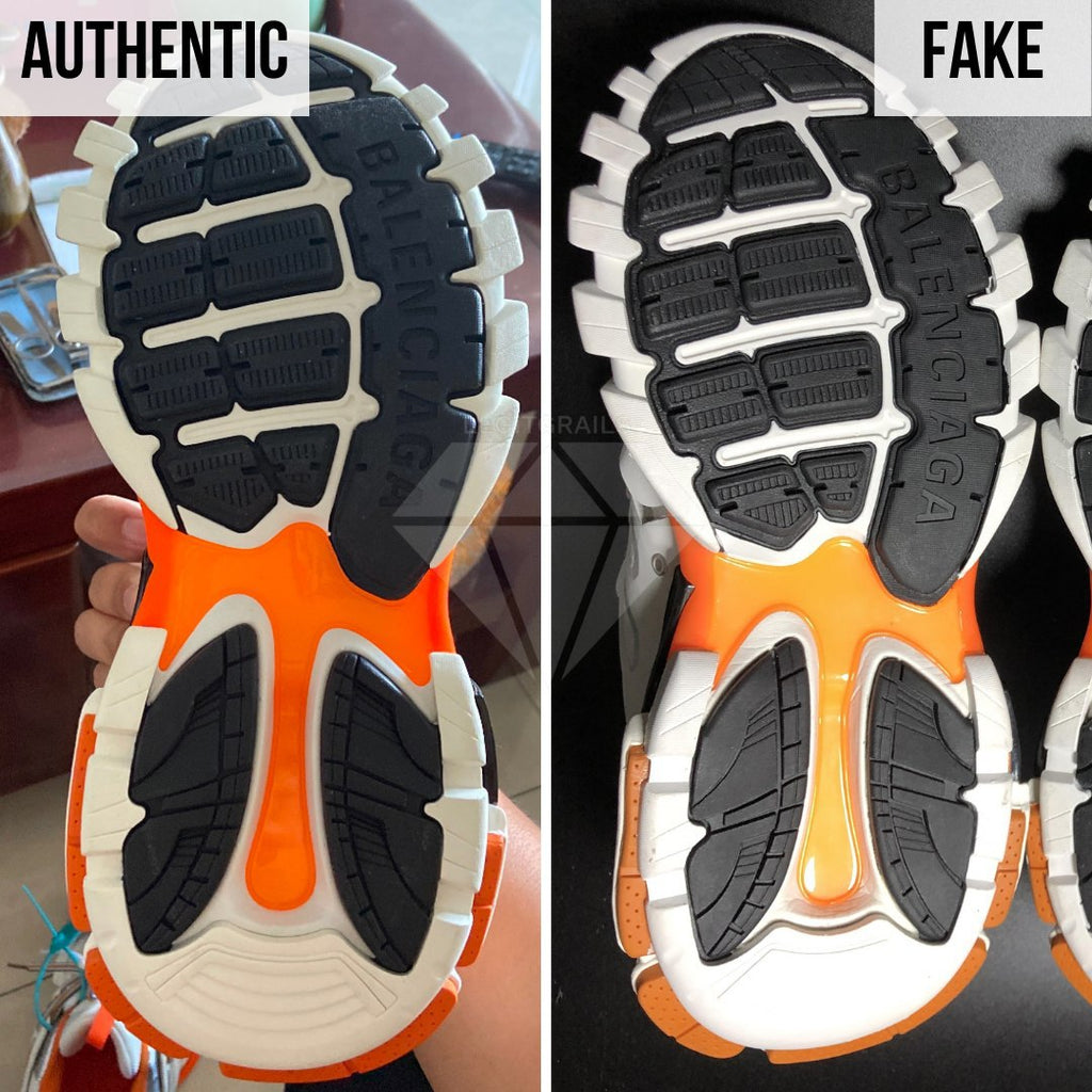 How To Spot Fake Balenciaga Track Sneakers: Look At The Bottom To Spot The Difference
